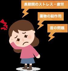 長期間のストレスや疲労