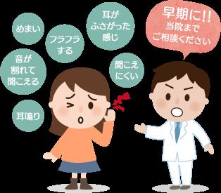 突発性難聴(耳鳴り、耳が塞がった感じ、耳の痛み)の特長と症状
