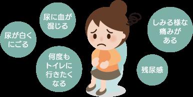膀胱炎・血尿の特長と症状